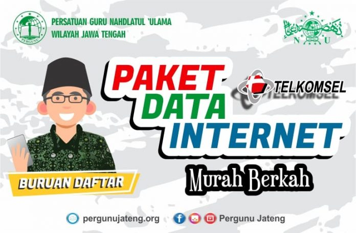 PW Pergunu Jawa Tengah Bersama Telkomsel Sediakan Paket Internet Murah