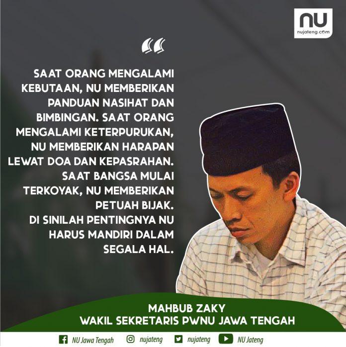 Wakil Sekretaris PWNU Jawa Tengah, Mahbub Zaky