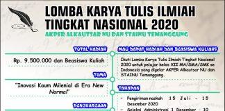 Kolaborasi AKPER Alkautsar NU dan STAINU Temanggung, Gelar Lomba Karya Tulis Ilmiah Tingkat Nasional