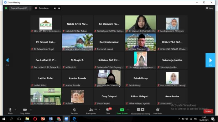 Kelompok KKN MIT DR XII UIN Walisongo Bersama PW Fatayat NU Jawa Tengah dan KPAI Gelar Webinar Tentang Perkawinan Anak